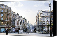 Lamppost Canvas Prints - Charing Cross in London Canvas Print by Elena Elisseeva