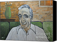 Singer Painting Canvas Prints - Charles Aznavour Canvas Print by Reb Frost