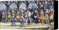 Parade Painting Canvas Prints - Charles Is Last Walk  Canvas Print by Ron Embleton