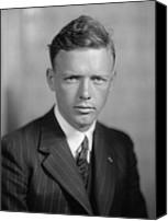 Flyers Canvas Prints - Charles Lindbergh 1902-1974 American Canvas Print by Everett