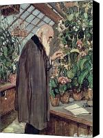 House Painting Canvas Prints - Charles Robert Darwin Canvas Print by John Collier