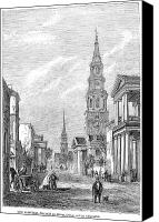 1861 Canvas Prints - Charleston: Church, 1861 Canvas Print by Granger