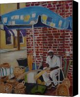 Vendor Painting Canvas Prints - Charleston Market Canvas Print by Gloria Smith