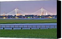 Charleston Sc Harbor Tours Canvas Prints - Charleston South Carolina Skyline Canvas Print by Dustin K Ryan
