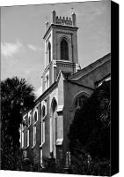 White Seagull Canvas Prints - Charleston Unitarian Church Canvas Print by Dustin K Ryan