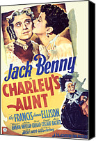 Francis Canvas Prints - Charleys Aunt, Jack Benny, Kay Francis Canvas Print by Everett