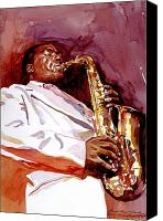 Saxaphone Painting Canvas Prints - Charlie Bird Parker Canvas Print by David Lloyd Glover
