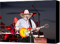 Singing Canvas Prints - Charlie Daniels Canvas Print by Bill Gallagher