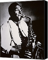 Half-length Canvas Prints - Charlie Parker Canvas Print by American School