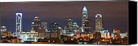 North Carolina Canvas Prints - Charlotte Skyline 2012 Canvas Print by Brian Young