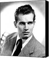 Publicity Shot Canvas Prints - Charlton Heston, Ca Early 1950s Canvas Print by Everett