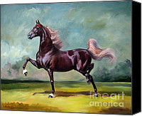 American Saddlebred Art Canvas Prints - Charmed and Bewitched Canvas Print by Jeanne Newton Schoborg