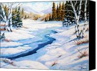 Prankearts Canvas Prints - Charming Winter Canvas Print by Richard T Pranke