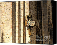 Dial Photo Canvas Prints - Chartres Cathedral Canvas Print by Louise Heusinkveld