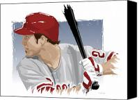 All Star Canvas Prints - Chase Utley Canvas Print by Scott Weigner
