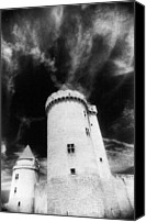 Silver Moonlight Canvas Prints - Chateau de Blandy les Tours Canvas Print by Simon Marsden