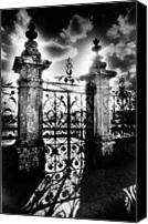 Silver Moonlight Canvas Prints - Chateau de Carrouges Canvas Print by Simon Marsden
