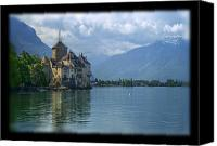 Matthew Green Canvas Prints - Chateau de Chillon Canvas Print by Matthew Green