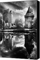 Silver Moonlight Canvas Prints - Chateau de Largoet Canvas Print by Simon Marsden