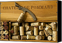 Corks Canvas Prints - Chateau de Pommard Canvas Print by John Galbo
