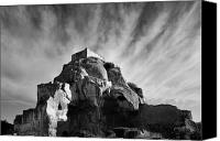 Hill Town Canvas Prints - Chateau des Baux Canvas Print by Chateau des Baux