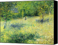 Dedication Canvas Prints - Chatou After Renoir Canvas Print by Zeana Romanovna