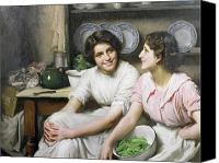 Kitchen Dresser Canvas Prints - Chatterboxes Canvas Print by Thomas Benjamin Kennington