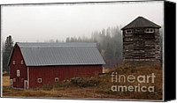 Farming Barns Canvas Prints - Chatteroy Barn Canvas Print by Jean OKeeffe