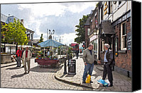 Chat Digital Art Canvas Prints - Chatting on Moor Street Canvas Print by Liam Liberty