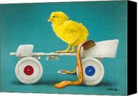 Roller Skates Canvas Prints - Cheepskate... Canvas Print by Will Bullas