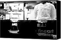 Pans Canvas Prints - Chef Canvas Print by Dean Harte