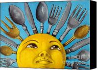 Morning Sun Canvas Prints - Chefs Delight - CBS Sunday Morning Sun Art  Canvas Print by Linda Apple