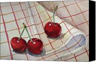 Berry Canvas Prints - Cherries Talk Canvas Print by Irina Sztukowski