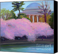 Thomas Jefferson Painting Canvas Prints - Cherry Blossoms in Afternoon Light Canvas Print by Julie Hart
