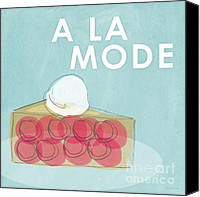 Linda Canvas Prints - Cherry Pie a la Mode Canvas Print by Linda Woods