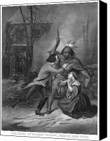 American Revolution Canvas Prints - Cherry Valley Massacre Canvas Print by Granger