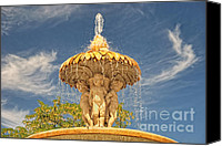 Retiro Canvas Prints - Cherubs in the Retiro Canvas Print by Nigel Fletcher-Jones