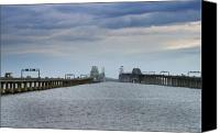 Bay Bridge Canvas Prints - Chesapeake Bay Bridge Maryland Canvas Print by Brendan Reals