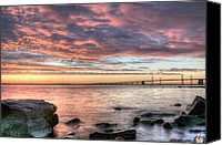 Bay Bridge Canvas Prints - Chesapeake Splendor  Canvas Print by JC Findley