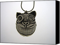 Precious Metal Clay Jewelry Canvas Prints - Cheshire Cat  Canvas Print by Michael Marx
