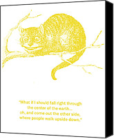 Cat Boy Digital Art Canvas Prints - Cheshire Cat Wisdom Canvas Print by Georgia Fowler