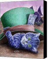 Hatter Canvas Prints - Cheshire Kitten Canvas Print by Rob Carlos