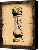 Chess Piece Canvas Prints - Chess King Canvas Print by Tom Mc Nemar