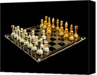 Chess Set Canvas Prints - Chess Canvas Print by Michael Peychich