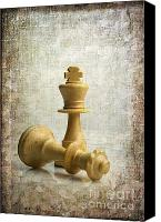 Game Piece Canvas Prints - Chess pieces Canvas Print by Bernard Jaubert