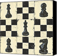 Chess Canvas Prints - Chess Pieces Canvas Print by Debbie DeWitt