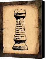 Chess Piece Canvas Prints - Chess Rook Canvas Print by Tom Mc Nemar