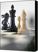 Chess Piece Canvas Prints - Chess Canvas Print by Tek Image