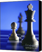 Chess Canvas Prints - Chess Canvas Print by Tony Cordoza