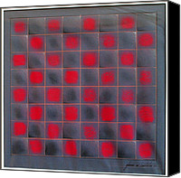 Game Pastels Canvas Prints - Chessboard 1982 Canvas Print by Glenn Bautista